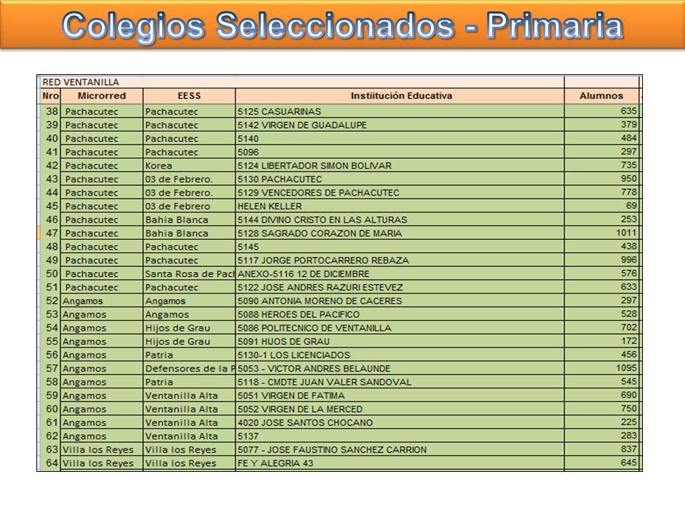 Colegios Seleccionados - Primaria