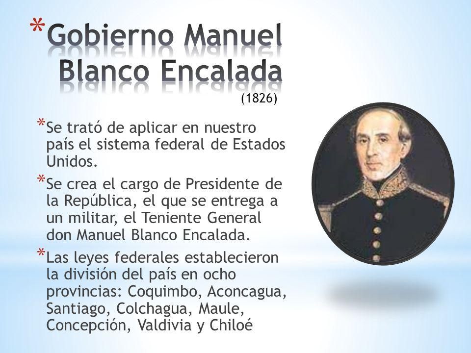 Gobierno Manuel Blanco Encalada