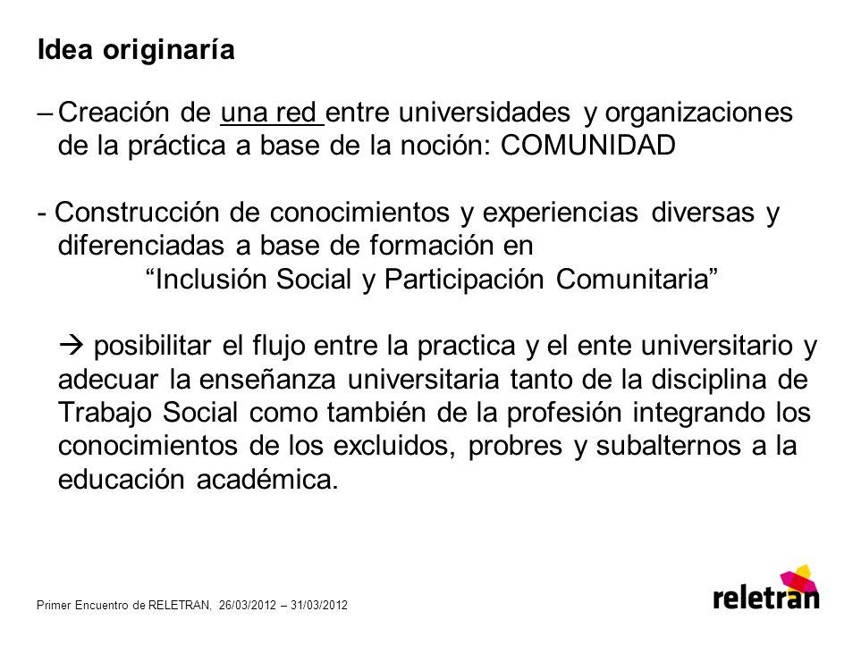 Inclusión Social y Participación Comunitaria