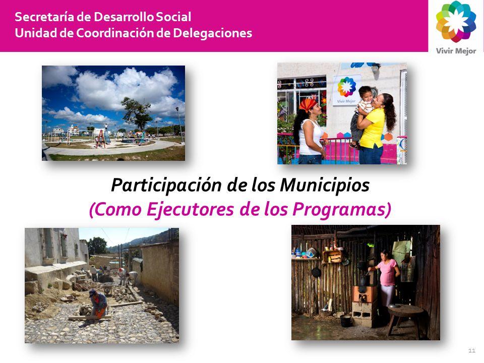 Participación de los Municipios (Como Ejecutores de los Programas)