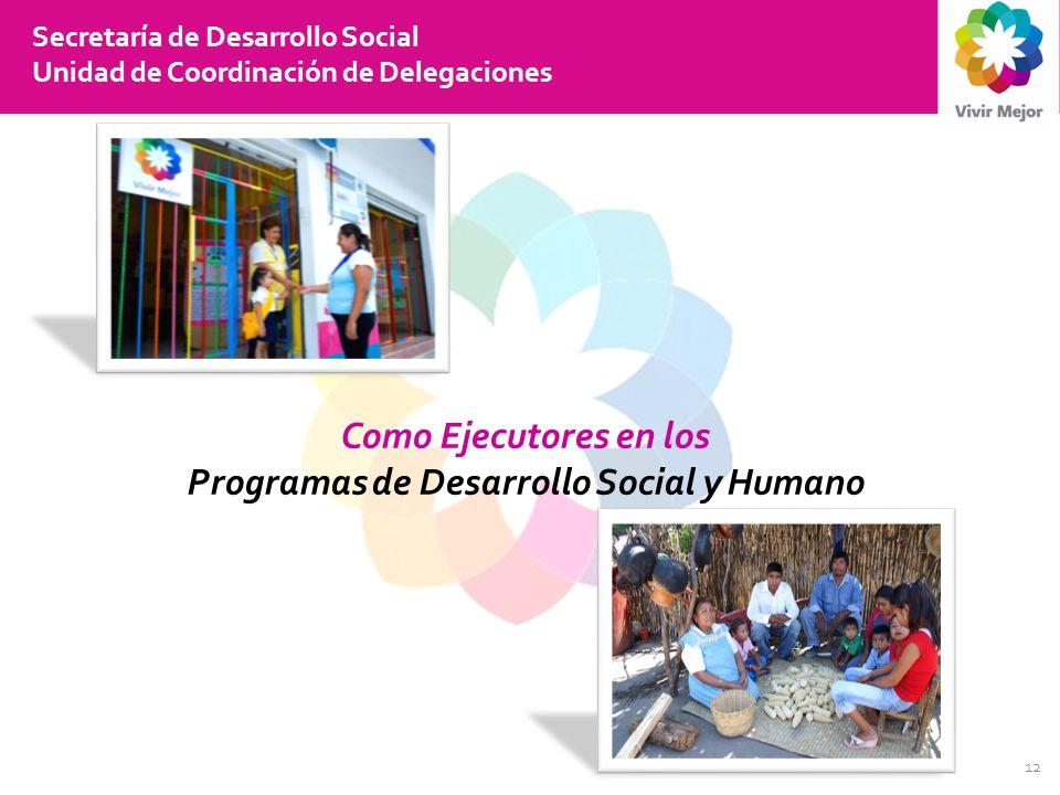 Programas de Desarrollo Social y Humano