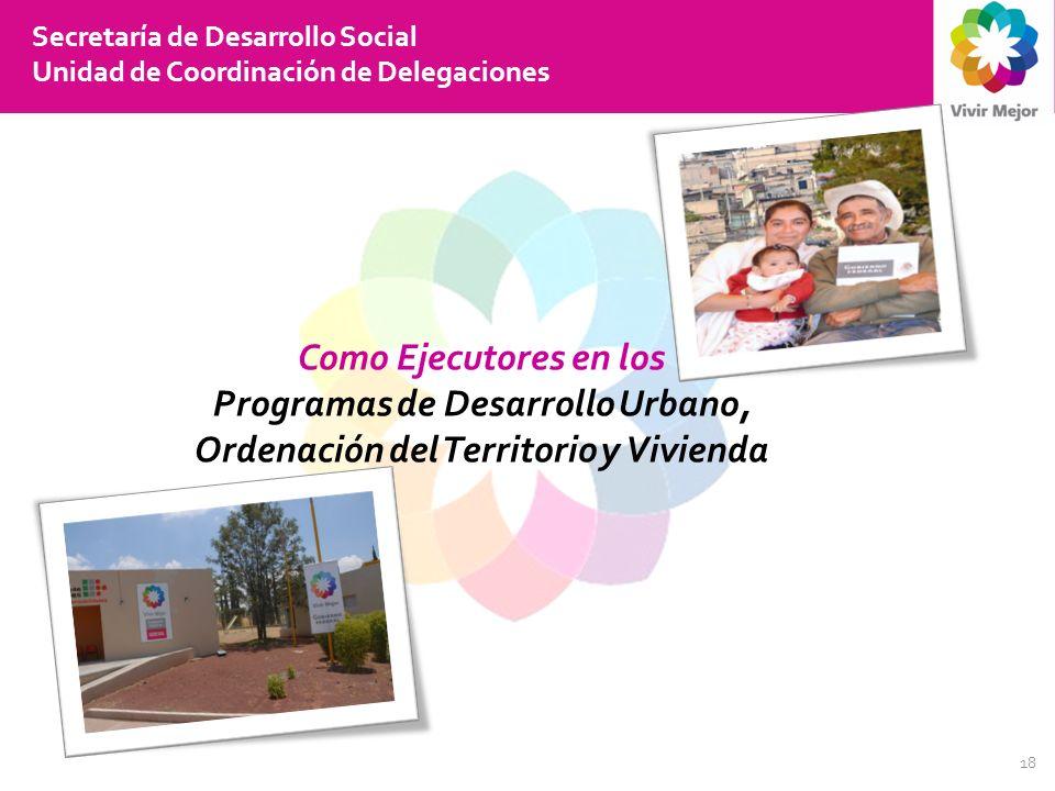 Programas de Desarrollo Urbano, Ordenación del Territorio y Vivienda