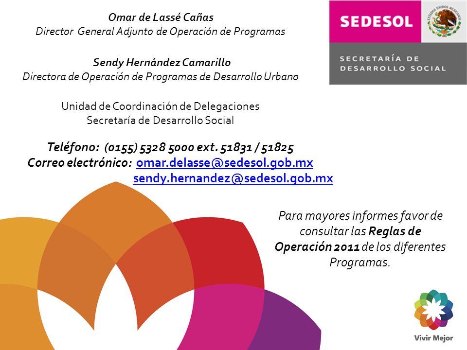 Correo electrónico: omar.delasse@sedesol.gob.mx