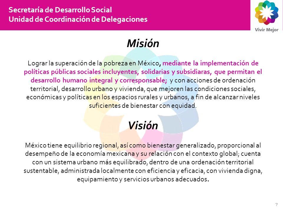 Misión Visión Secretaría de Desarrollo Social