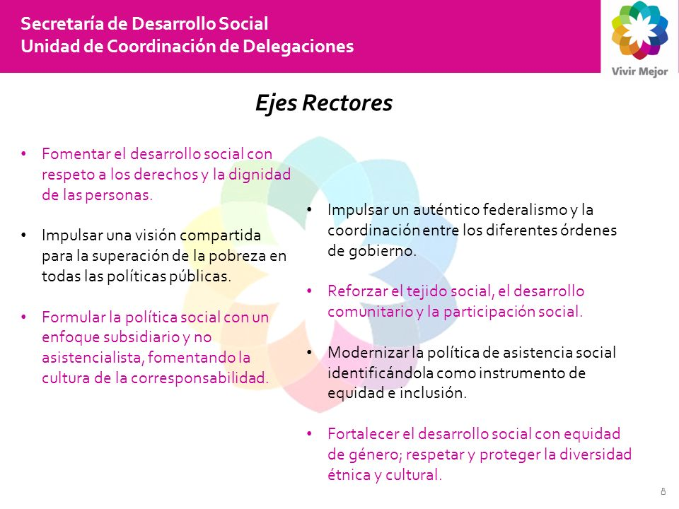Ejes Rectores Secretaría de Desarrollo Social