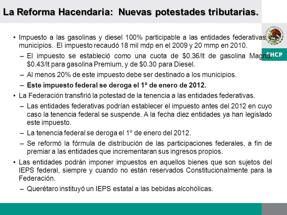 La Reforma Hacendaria: Nuevas potestades tributarias.