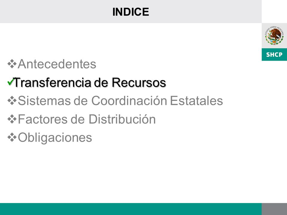 Transferencia de Recursos Sistemas de Coordinación Estatales