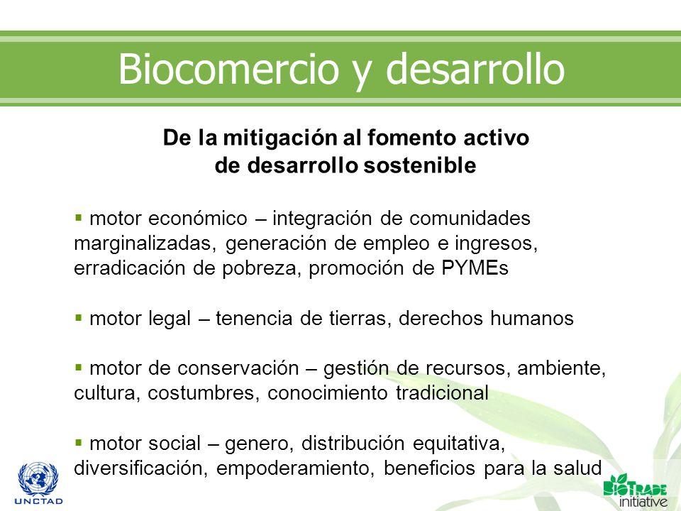 Biocomercio y desarrollo