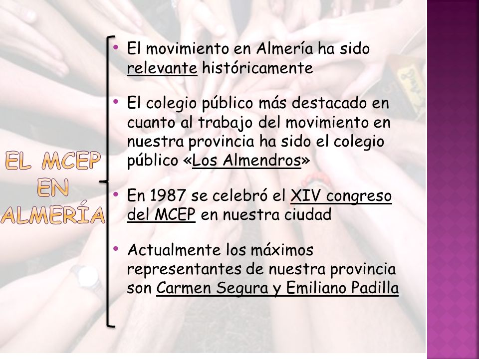 El movimiento en Almería ha sido relevante históricamente