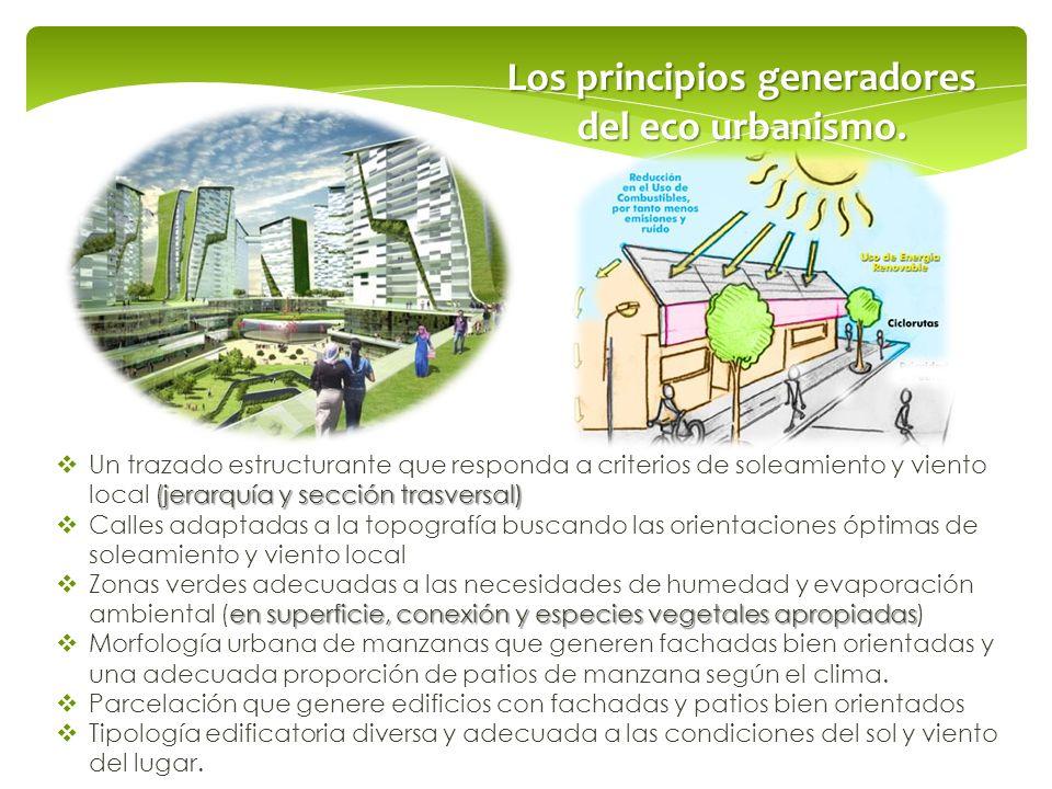 Los principios generadores del eco urbanismo.