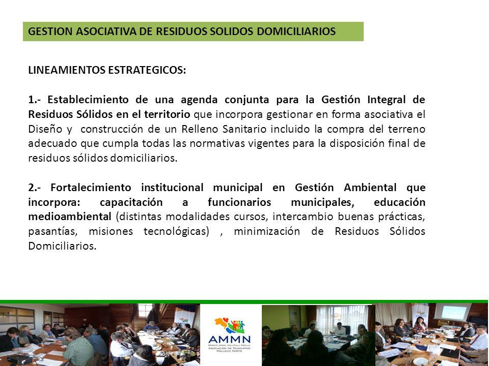 GESTION ASOCIATIVA DE RESIDUOS SOLIDOS DOMICILIARIOS