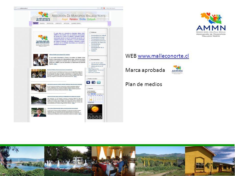 WEB www.malleconorte.cl Marca aprobada Plan de medios