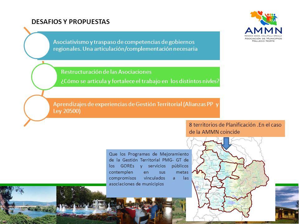 DESAFIOS Y PROPUESTASAsociativismo y traspaso de competencias de gobiernos regionales. Una articulación/complementación necesaria.