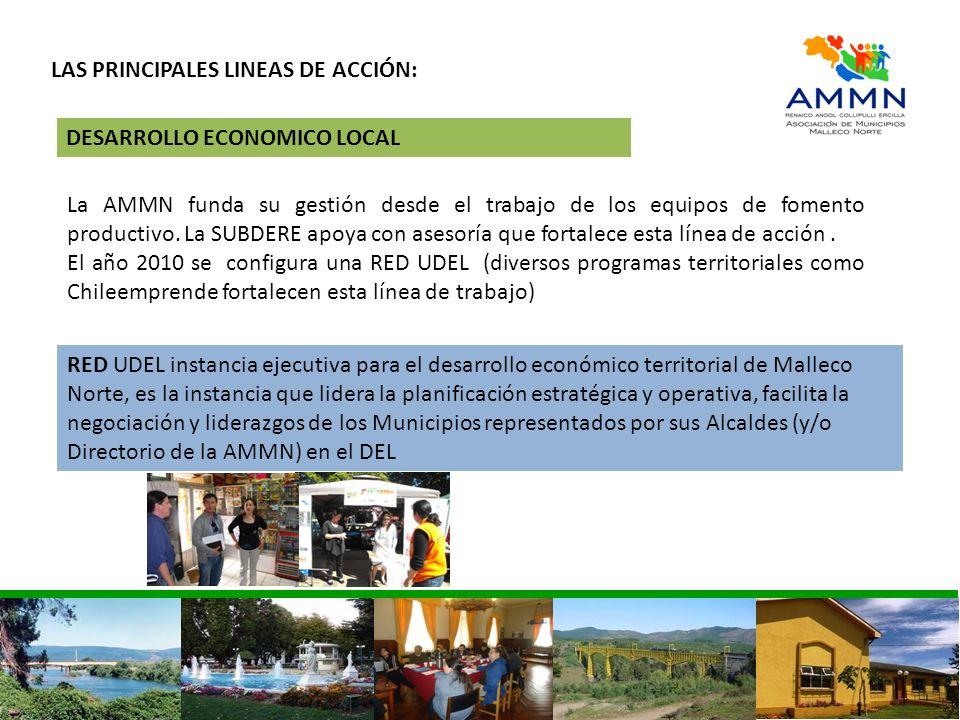 LAS PRINCIPALES LINEAS DE ACCIÓN: