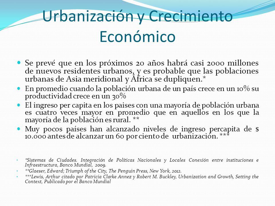 Urbanización y Crecimiento Económico