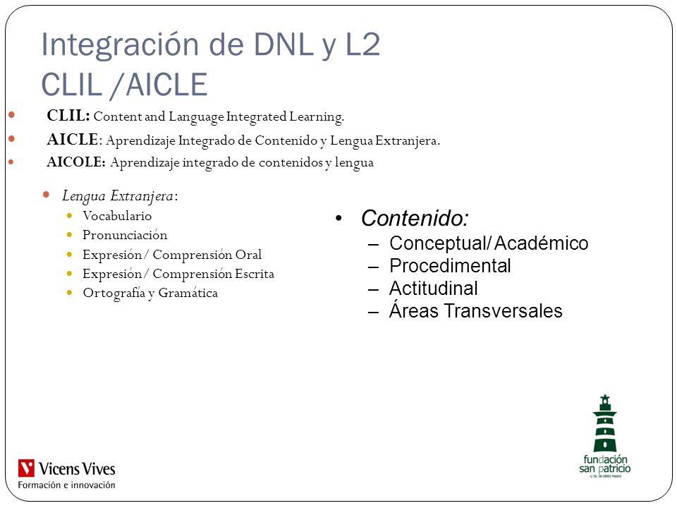 Integración de DNL y L2 CLIL /AICLE