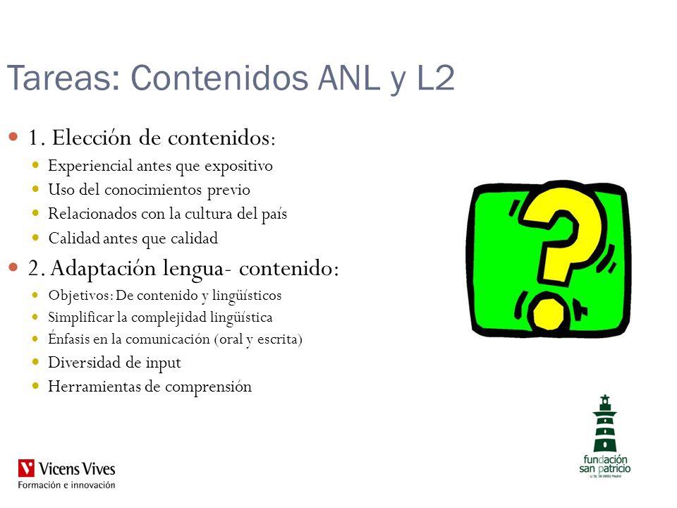 Tareas: Contenidos ANL y L2