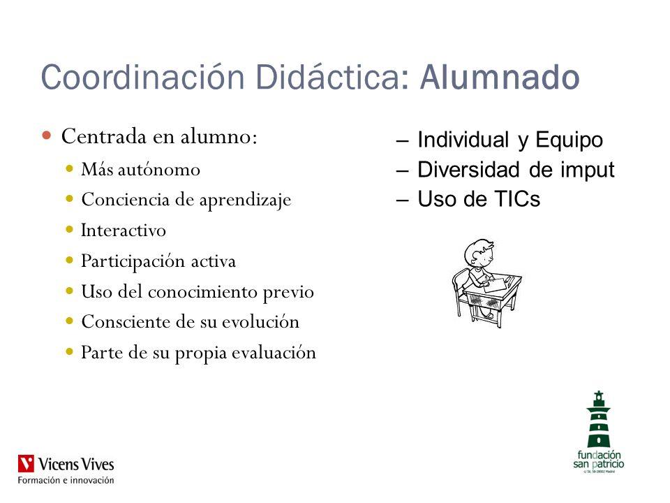 Coordinación Didáctica: Alumnado
