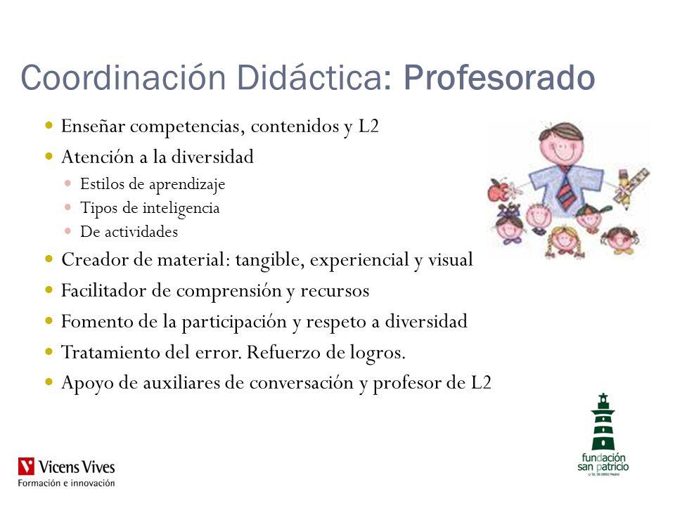 Coordinación Didáctica: Profesorado