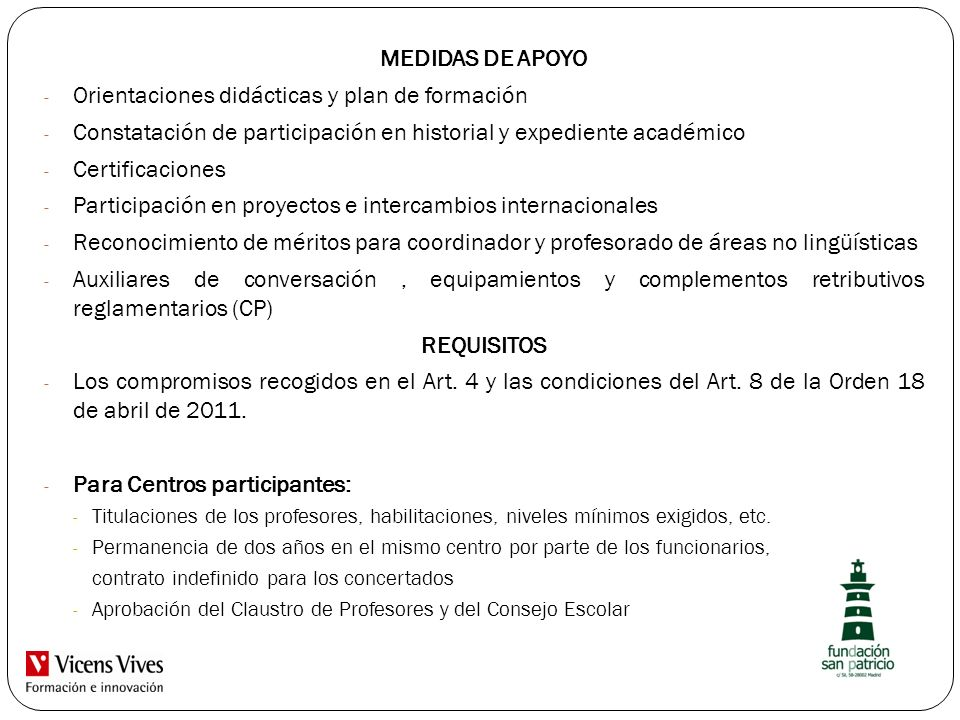 MEDIDAS DE APOYO REQUISITOS
