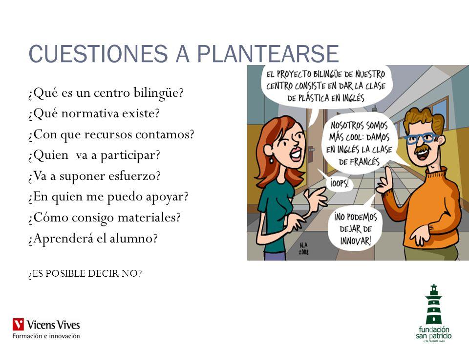 CUESTIONES A PLANTEARSE