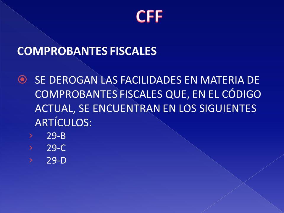 CFF COMPROBANTES FISCALES