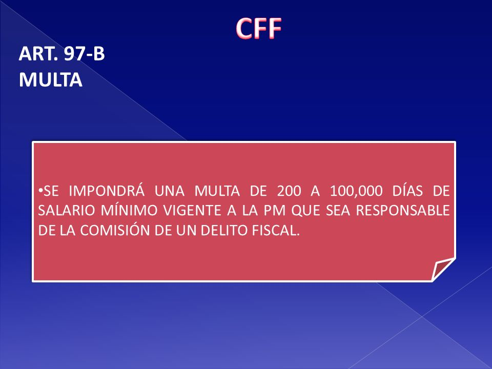 CFF ART. 97-B. MULTA.