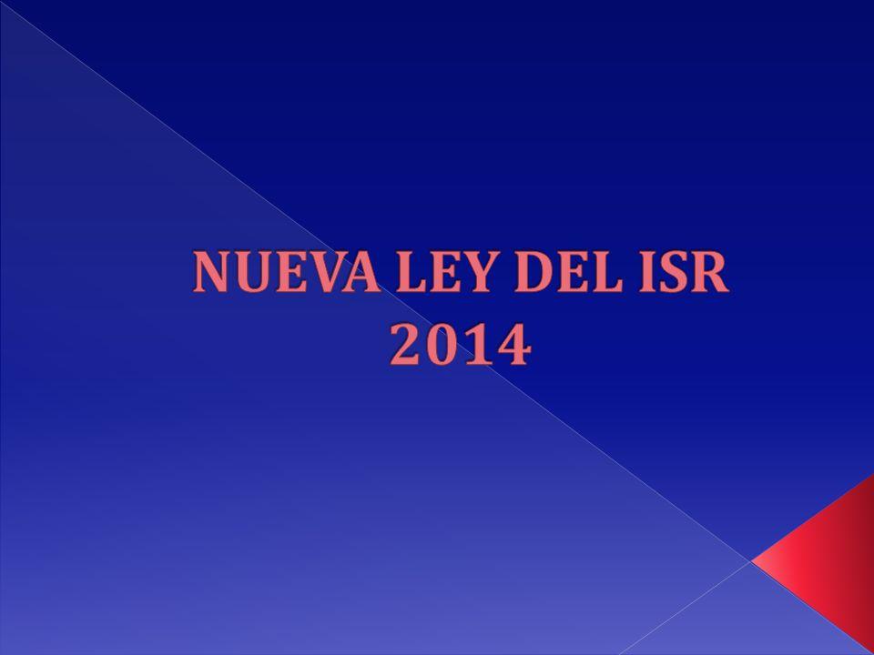 NUEVA LEY DEL ISR 2014