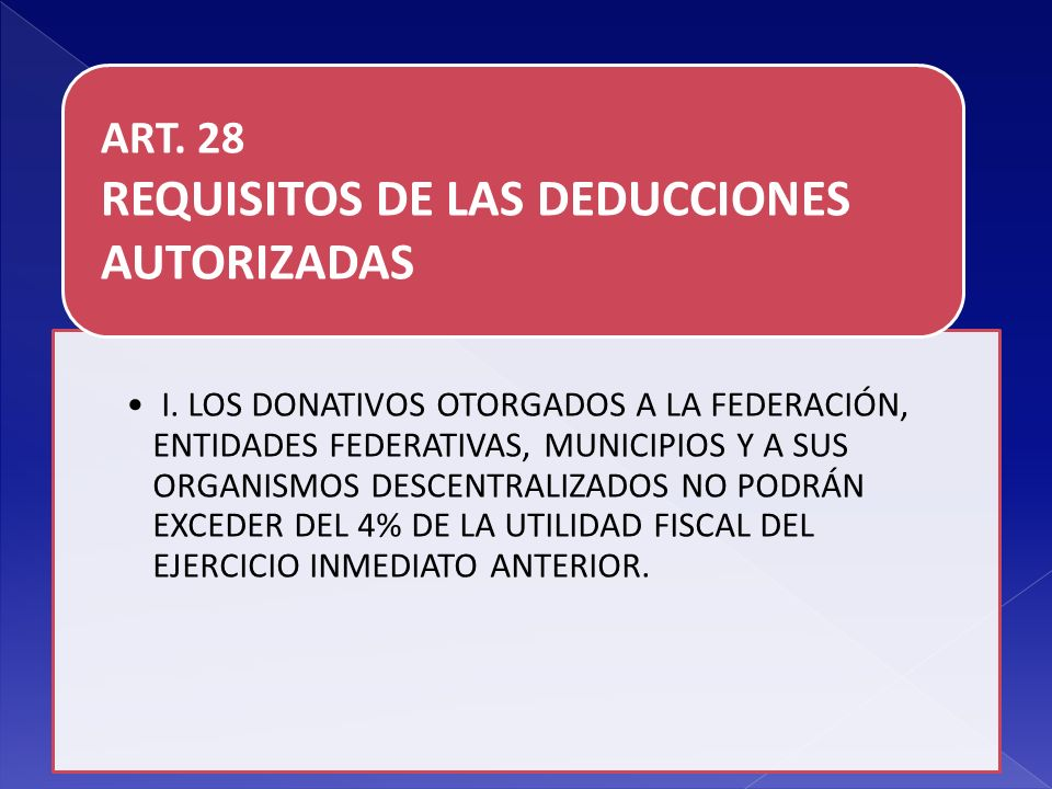 REQUISITOS DE LAS DEDUCCIONES AUTORIZADAS