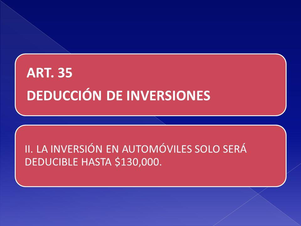 DEDUCCIÓN DE INVERSIONES