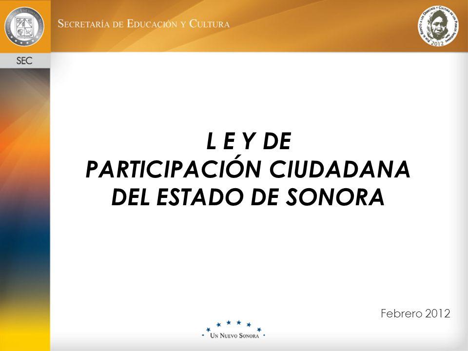 PARTICIPACIÓN CIUDADANA DEL ESTADO DE SONORA