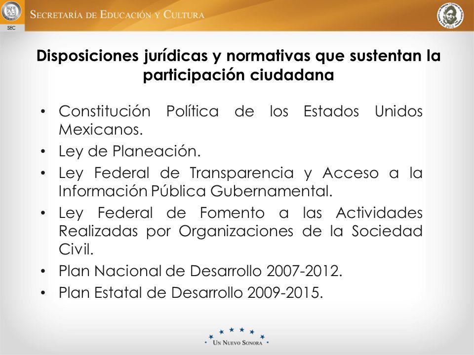 Disposiciones jurídicas y normativas que sustentan la