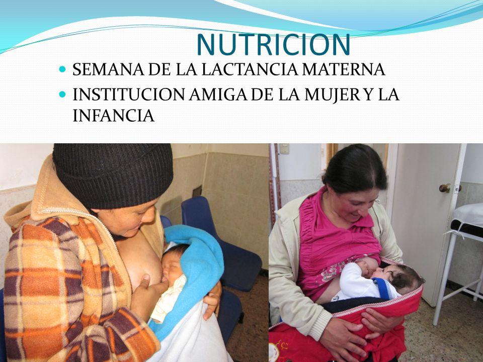 NUTRICION SEMANA DE LA LACTANCIA MATERNA