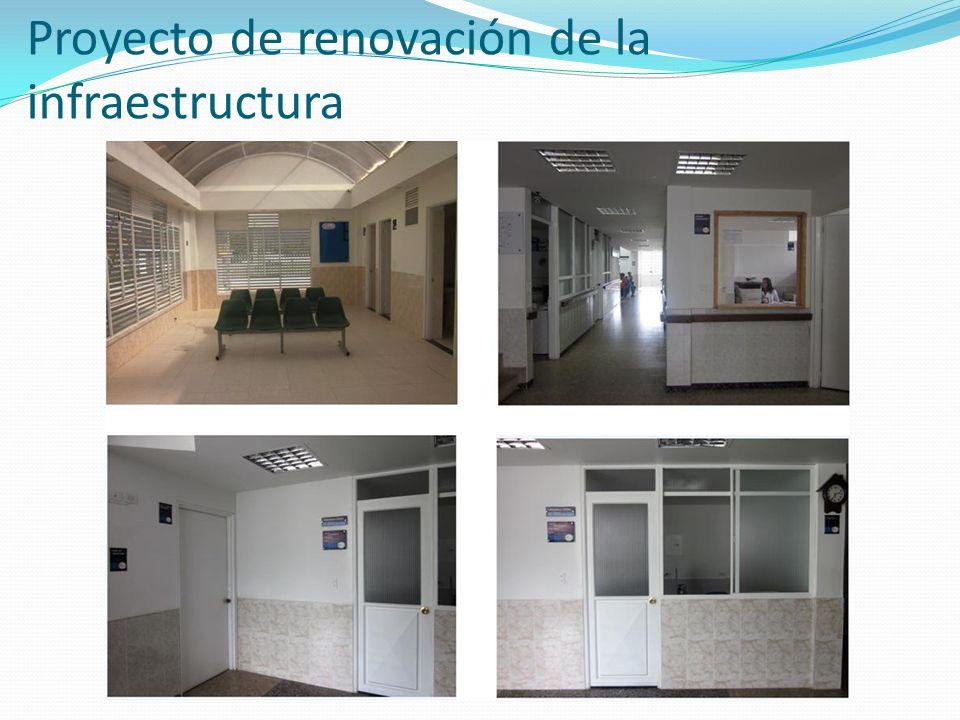 Proyecto de renovación de la infraestructura