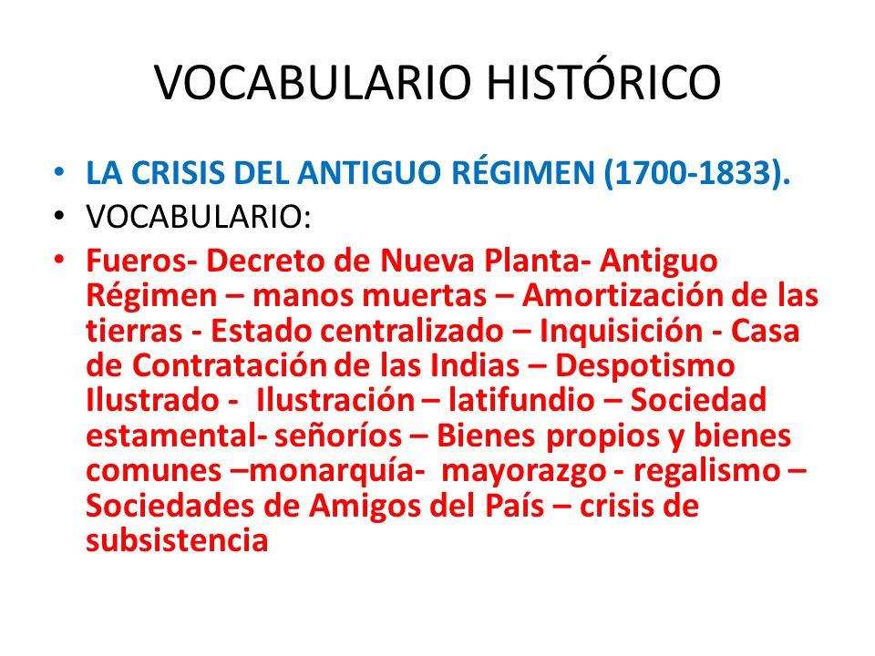 VOCABULARIO HISTÓRICO