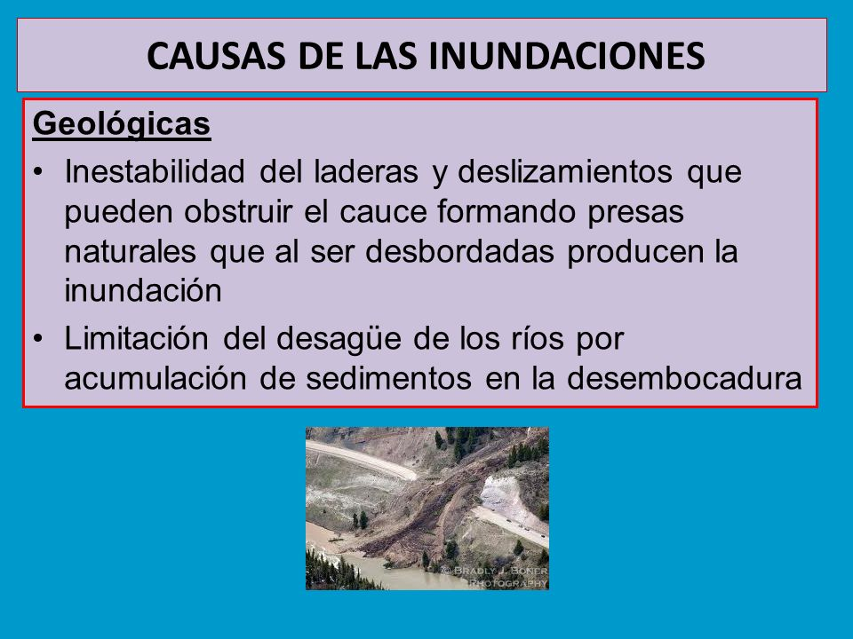 CAUSAS DE LAS INUNDACIONES