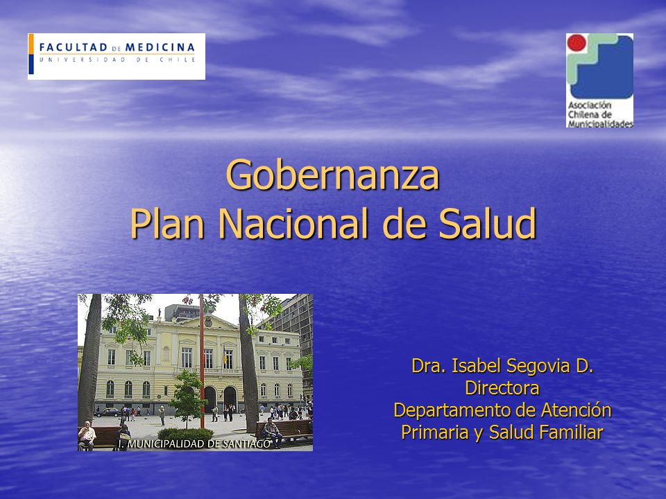 Gobernanza Plan Nacional de Salud