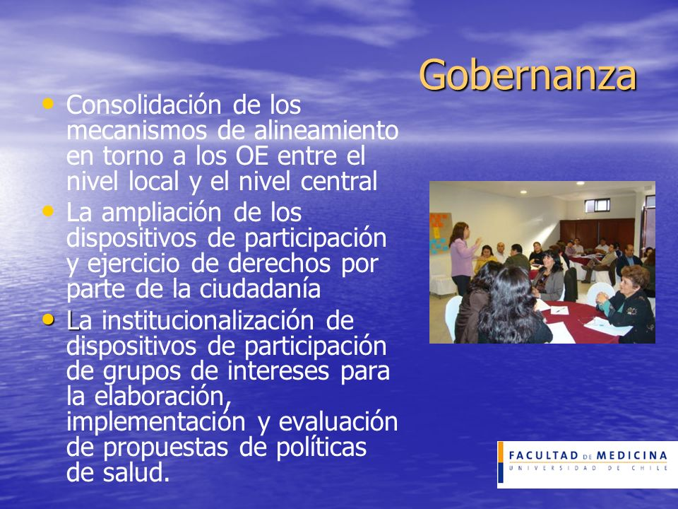 Gobernanza Consolidación de los mecanismos de alineamiento en torno a los OE entre el nivel local y el nivel central.
