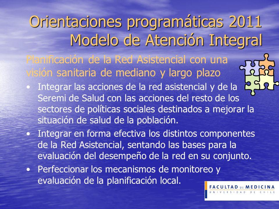 Orientaciones programáticas 2011 Modelo de Atención Integral