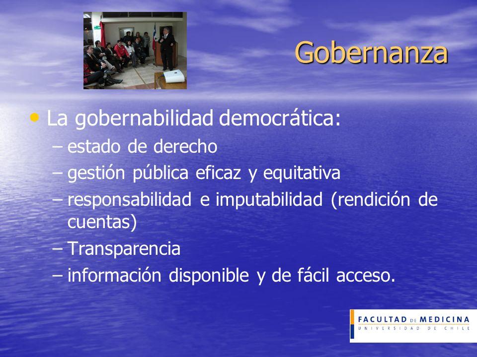 Gobernanza La gobernabilidad democrática: estado de derecho