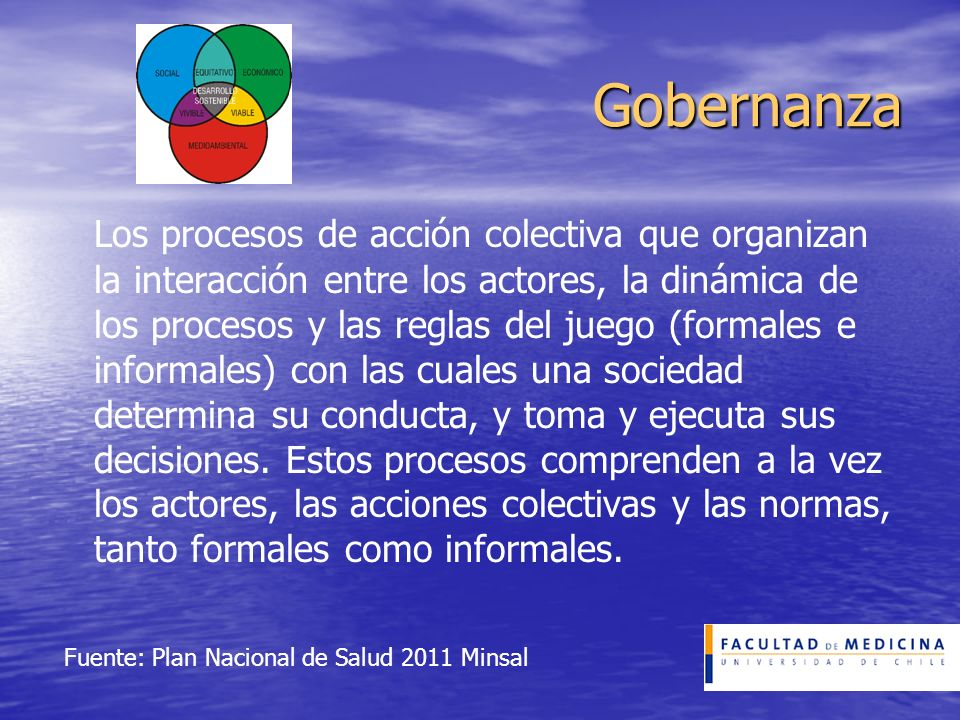 Fuente: Plan Nacional de Salud 2011 Minsal
