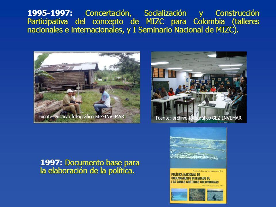 1997: Documento base para la elaboración de la política.