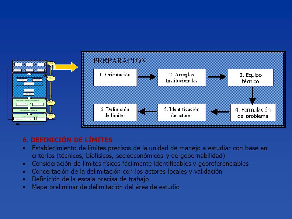 6. DEFINICIÓN DE LÍMITES