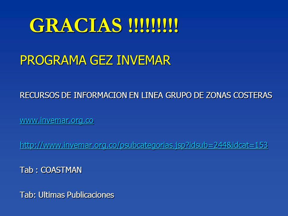 GRACIAS !!!!!!!!! PROGRAMA GEZ INVEMAR