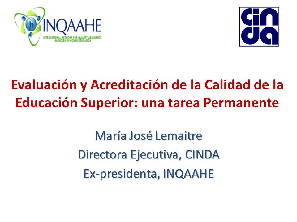 María José Lemaitre Directora Ejecutiva, CINDA Ex-presidenta, INQAAHE
