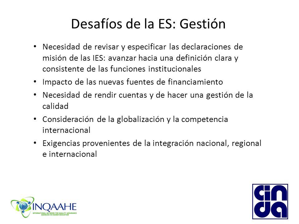 Desafíos de la ES: Gestión