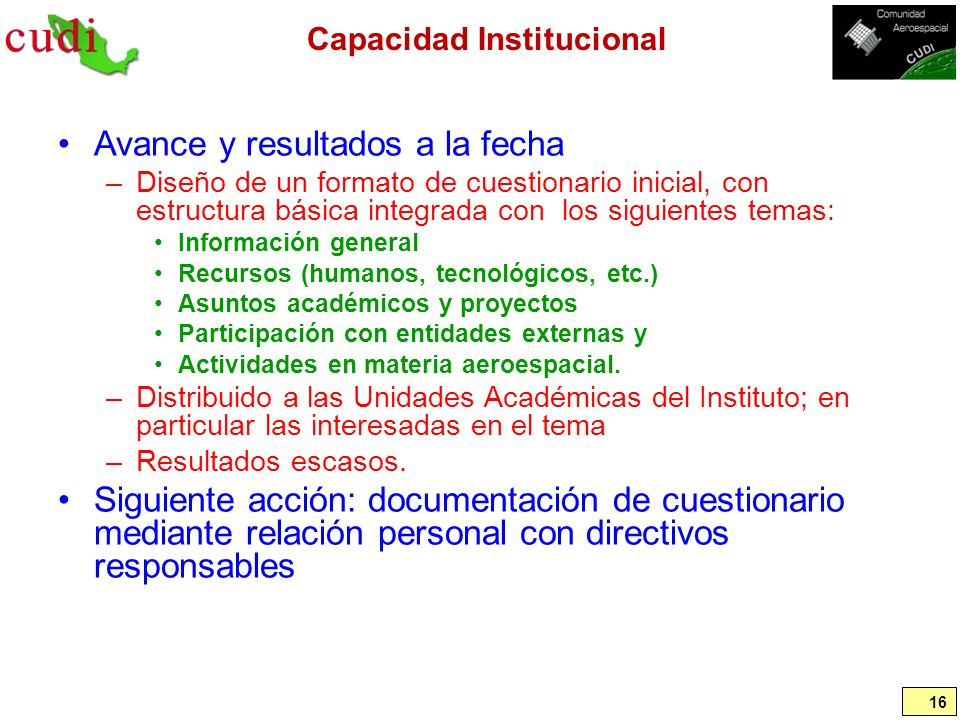 Capacidad Institucional