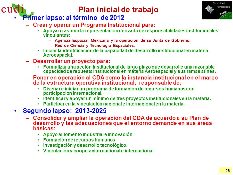 Plan inicial de trabajo
