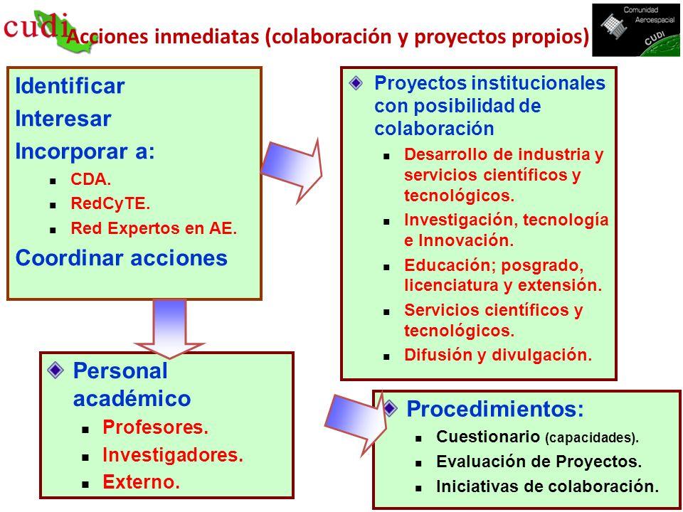 Acciones inmediatas (colaboración y proyectos propios)