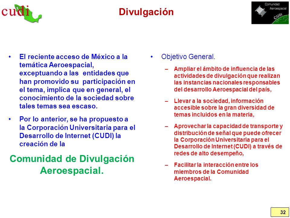 Comunidad de Divulgación Aeroespacial.